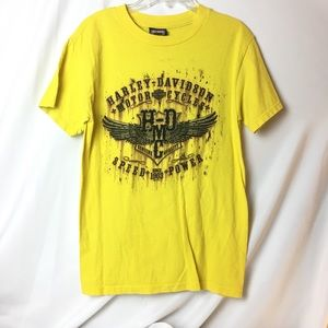 Harley Davidson yellow tee Marion, IL